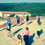 Asinara: riscaldamento con Mauro e Morena prima del Fitwalking